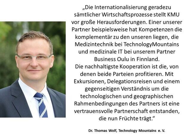 Zitat Clustermanager Thomas Wolf