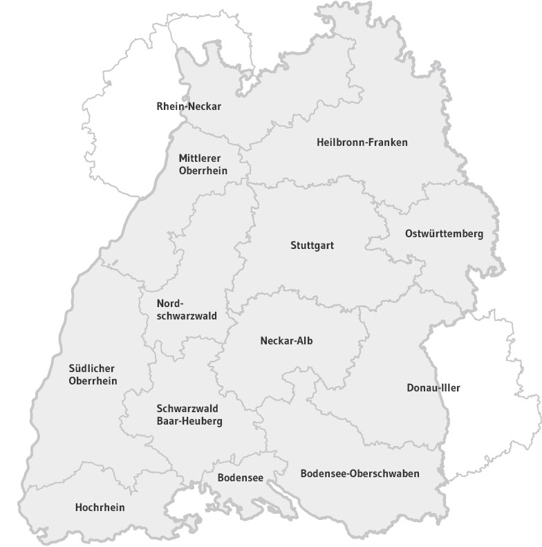 Region Heilbronn Franken Karte.Regionen Clusterportal Bw